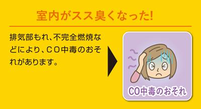 CO中毒のおそれ